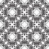 黑无缝的白色背景样式 图库摄影