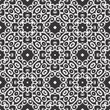 黑无缝的白色背景样式 库存照片