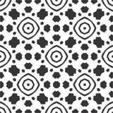 黑无缝的白色背景样式 免版税库存照片