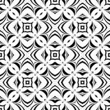 黑无缝的白色背景样式 库存图片