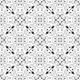 黑无缝的白色背景样式 免版税图库摄影