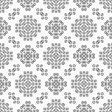 黑无缝的白色背景样式 免版税库存图片