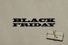 黑星期五热的销售 题字是在工艺的黑星期五 图库摄影