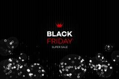 黑星期五销售装饰有抽象闪烁背景 海报的,卡片,横幅增进传染媒介模板 免版税图库摄影