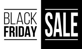 黑星期五销售,导航黑白海报 库存图片