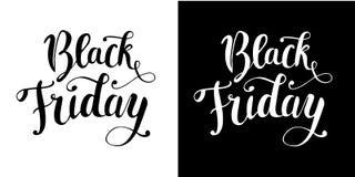 `黑星期五`刷子书法文本 图库摄影