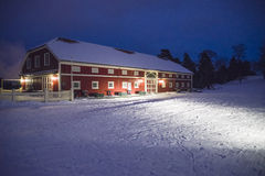 黑暗和寒冷在fredriksten堡垒(小酒馆) 免版税库存图片
