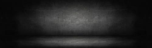 黑暗和灰色抽象水泥墙壁 图库摄影