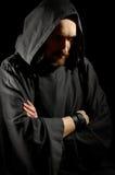 黑暗的中世纪修士 库存照片