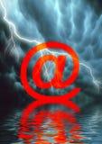 黑暗的互联网端 免版税图库摄影