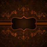 黑暗的典雅的花卉标签葡萄酒 免版税图库摄影