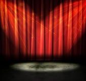 黑暗的剧院 免版税库存图片