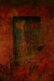 黑暗的哥特式门 免版税库存图片