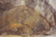 黑暗的土气金属纹理背景 免版税库存照片