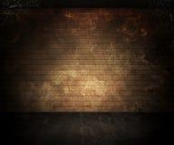黑暗的地下室背景 免版税库存图片