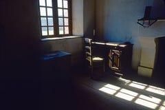 黑暗的堡垒louisbourg研究 库存照片