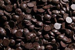黑暗的巧克力部分 库存图片