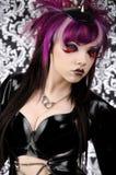 黑暗的恶魔方式性感的泼妇 免版税库存图片