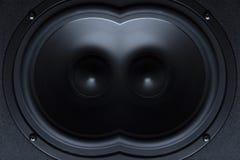 黑暗的报告人,扩音器,一部分的一个音乐专栏,概念 免版税库存照片