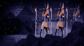 黑暗的抽象埃及背景 图库摄影
