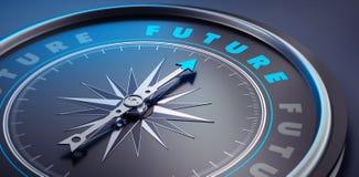 黑暗的时髦的指南针-概念未来 皇族释放例证