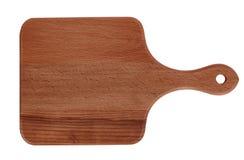 黑暗的木切板,手工制造木切板 库存照片