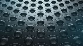 黑暗的样式生锈的球抽象背景,3D例证 库存例证