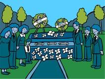 黑暗的活动殡葬服务 免版税库存照片