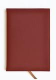 黑暗的皮革笔记本红色 图库摄影