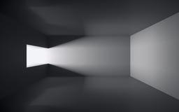 黑暗的空的空间 库存例证