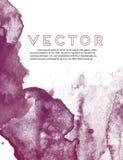 黑暗的紫罗兰色水彩难看的东西纹理 摘要流动液体墨水海报 手拉的在白色背景的元素动态飞溅 库存例证
