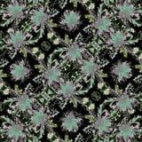 黑暗的自然复杂Boho无缝的样式 免版税图库摄影