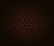黑暗的花卉墙纸 免版税库存图片