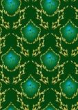 黑暗的花卉绿色无缝的纹理向量 免版税库存照片