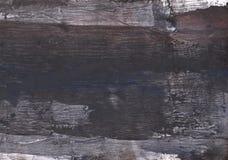 黑暗的蓝灰色的抽象水彩绘画 免版税库存照片