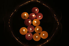 黑暗的蜡烛 图库摄影