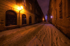 黑暗的街道 图库摄影