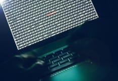 黑暗的计算机黑客 库存图片