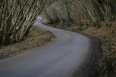 黑暗的路绕 免版税图库摄影