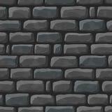 黑暗的鹅卵石无缝的动画片纹理  免版税库存图片