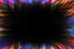 黑暗的starburst爆炸边界 免版税库存照片