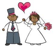 黑暗结婚的肤色 库存图片