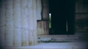 黑暗里面黑白射击放弃了大厦,可怕被困扰的宫殿 股票录像