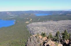黑曜石流程和湖 库存照片