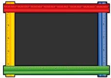 黑板上色了统治者 图库摄影