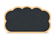 黑板云彩图标 免版税库存照片