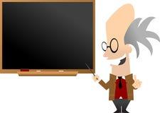 黑板前教授 库存照片