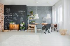 黑板厨房装饰 免版税图库摄影