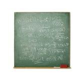 黑板困难查出的算术白色 免版税图库摄影