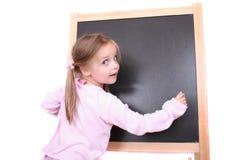 黑板女孩 免版税库存图片